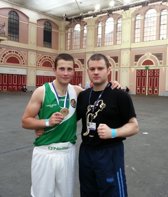 Haringey gold medallist Diego Capocci with IATBA Team Manager Paul Geoghegan
